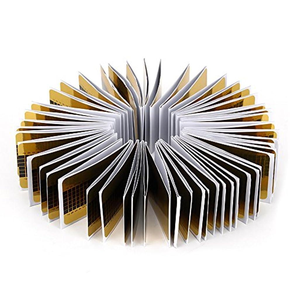 大人驚いたことに結晶Sincerestore ネイルフォーム 長さだしジェルネイルフォーム プロ用 使い捨て 紙製 100枚入れ (イエロー)