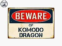 Beware Of Komodo Dragon 8インチ x 12インチ ヴィンテージ レトロ アルミニウム メタルプレート ギフトサイン VS241 ホーム/男性の洞窟の装飾用