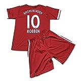 サッカーユニフォーム 2018モデル バイエルンミュンヘン ホーム アリエン・ロッベン ROBBEN 背番号10 レプリカサッカーユニフォーム 子供用