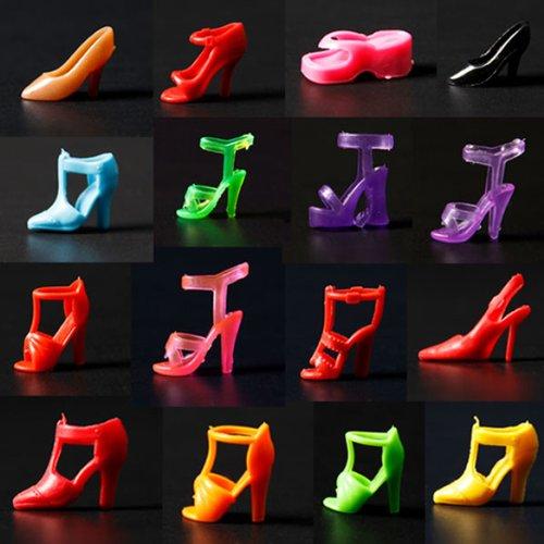 40個 20ペア多様のハイヒール靴 290ミリメートルのバービー人形玩具のアクセサリー...
