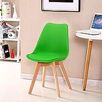 シンプルなレトロ会議の椅子は、椅子を交渉するソリッドウッドチェアフィートレストランチェアクリエイティブ商業プラスチック製の椅子背もたれラウンジチェアコンピュータチェアサイズ:37 * 87センチメートル (色 : D)