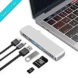BHOMEA Type C ハブ 6in1 Macbook Pro 13/15インチ用 USB C ハブ アダプタ HDMI出力 4K対応 USB 3.0ポート*2 マルチ変換アダプタ 高速データ転送 SD&MicroSDカードスロット アルミニウム コンパクト 軽量MacBook 、Google、 Lenovo、Windows OS対応