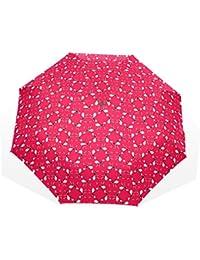 ユキオ(UKIO) 折りたたみ傘 レディース 晴雨兼用 高密度 遮光 手動 遮熱 飛び跳ね防止 梅雨対策 雨傘 日傘 軽量 防風 頑丈 アリ 収納ケース付