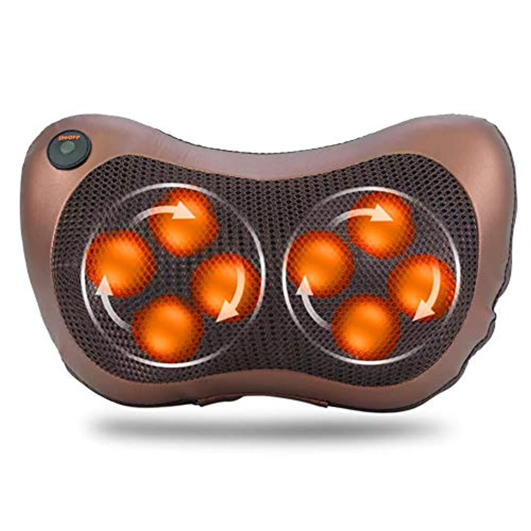 8つの頭部の回転マッサージ枕、ホームオフィスおよび車の使用のためのタイミング熱機能の電気指の深い混練の首の肩ボディマッサージャー