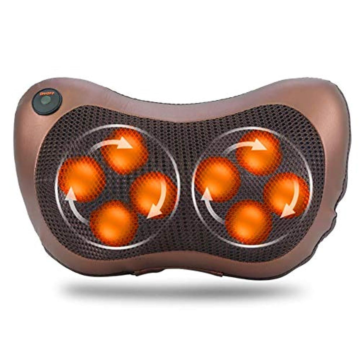 ムスタチオ拳可動式8つの頭部の回転マッサージ枕、ホームオフィスおよび車の使用のためのタイミング熱機能の電気指の深い混練の首の肩ボディマッサージャー