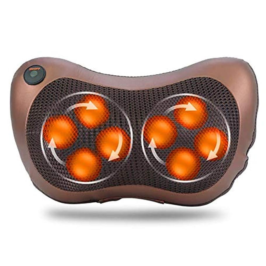 ハロウィンレビュアー相談する8つの頭部の回転マッサージ枕、ホームオフィスおよび車の使用のためのタイミング熱機能の電気指の深い混練の首の肩ボディマッサージャー