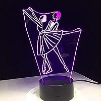 Dtcrzj Hi バレエダンス女性男性デザインアクリル3Dナイトランプホームオフィスベッドサイド配給学校卒業Td