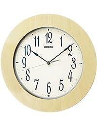 セイコー クロック 掛け時計 電波 アナログ 木枠 天然色 木地 KX219A SEIKO