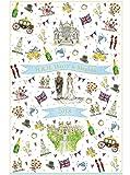 英国 Milly Green(ミリー・グリーン) 2018年 H.R.H. Harry & Meghan ヘンリー王子 & メーガン・マークル ロイヤル・ウェディング 記念 ティータオル 英国製 [並行輸入品]