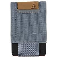 Nomatic Gray Men's Slim Minimalist Wallet- Everyday Carry Card Holder- Keys, Cash, Coin