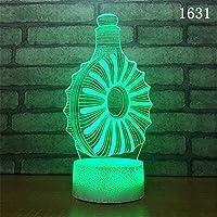 3dナイトライトタッチテーブルデスクランプ7色変更ライトファッションクリエイティブホームデコレーションギフト漫画ランプ