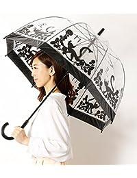 フルトン(FULTON) xクラウスハーパニエミ(KLAUS HAAPANIEMI) 【英国王室御用達】長傘(手開きタイプ)猫プリントビニール傘(レディース/婦人)