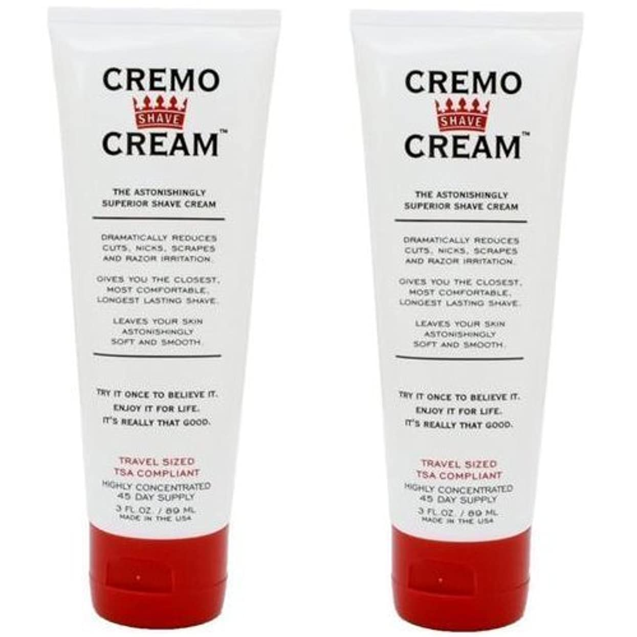栄光のバブル八百屋Cremo Original Shave Cream Astonishingly Superior Shaving Cream for Men Travel Size 3 Fluid Ounce (2 Pack) [並行輸入品]