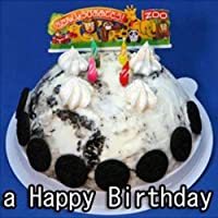 お誕生日アイスクリームケーキ クリームクッキーアイスケーキ