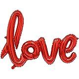 OUYOU バルーン アルミ風船 love ??飾り付け バレンタインデー Valentine's Day 誕生日 ウェディング パーティー