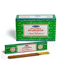Satya Nag Champa Ayurveda お香スティック Agarbatti 180グラムボックス | 15グラム入り12パック
