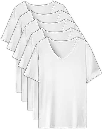EASY-MODE-T インナーシャツ メンズ 肌着 5枚組 半袖 長袖 Vネック 防菌防臭 クセになる肌触り