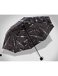 ブラックファッション雨傘ノベルティ用紙プリント傘メンズレディースFolding