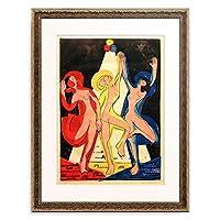 エルンスト・ルートヴィヒ・キルヒナー Ernst Ludwig Kirchner 「Farbentanz」 額装アート作品