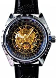 [スワンユニオン] swanunion メンズ 新型3針 自動巻き 防水腕時計 スチームパンク ブラックベルト[t216]