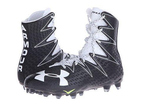 (アンダーアーマー) UNDER ARMOUR メンズフットボール・アメフトシューズ・靴 UA Highlight MC Black/White 9 27cm D - Medium [並行輸入品]