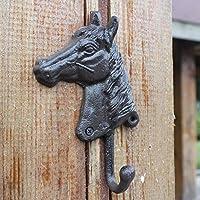 HZB アメリカのフック、農村アンティークの産業風、鋳鉄、馬の頭、フックの壁、壁の装飾、家の装飾のハンガー。