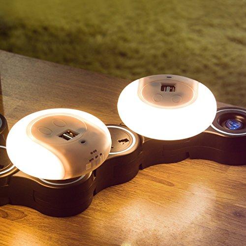 ナイトライト、Bienna [プラグin ] LEDナイトライトwith Dusk to DawnセンサーとデュアルUSBウォールプレート充電器for Kids部屋バスルーム寝室トイレwith On Off自動スイッチ 008-05220120US2