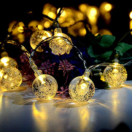 Idealeben イルミネーションライト LEDストリングライト ボールライト 40球4.3M パーティー電飾 電球色 バレンタイン/告白/結婚式 雰囲気作り ライト 庭 広場 街路樹 飾り付け