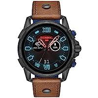 Diesel Men's Quartz Smartwatch smart Display and Leather Strap, DZT2009