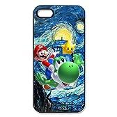 【iPhone 5/5Sケース】ゲーム スーパーマリオブラザーズ マリオとヨッシーケース カバー ソフトジャケット