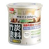 アトムハウスペイント 水性竹炭塗料 1.6L 炭調ミントホワイト