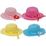 ギフトブティックGirls Teaパーティー帽子Assortment ;パックof 4