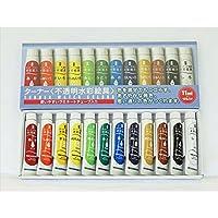 ターナー色彩:不透明水彩・ニス12色紙箱セット MC12C