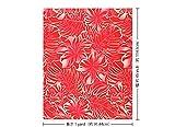 赤のハワイアンファブリック ハイビスカス・モンステラ柄 fab-2557RDPi 【ハワイ生地・ハワイアンプリント】