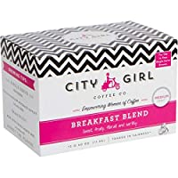 City Girl Coffee Breakfast Blend Single Serve Keurig KCUP, 12 Pods/Box, Medium Roast, Sourced from Women-Owned Farms