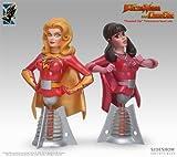 エレクトラウーマン&ダイナガール Electric Tiki ElectraWoman & DynaGirl Polystone Busts