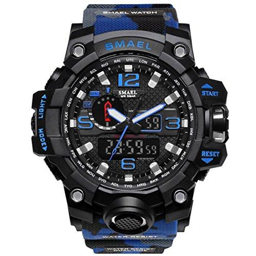 [해외]SMAEL 밀리터리 위장 바람 아나 시계 남성 남성 알람 크로노 그래프 다기능 스포츠 시계/SMAEL Military camouflage style analogue wrist watch Men`s men alarm chronograph multi function sports watch