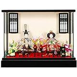 雛人形 親王ケース入り 【親王】セット(2人)[幅41cm] 黒塗 LED照明[sb-12-173] 雛祭り