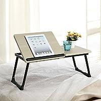 ブナ/ブラックラップトップ ノートブック デスクスタンド 折りたたみ式 Lサイズ ポータブル 角度調節可能 家庭&オフィス ノートパソコン用 ベッドトレイ