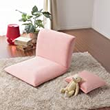 スマート座椅子 ico クッション1個付 日本製 (ピンク)