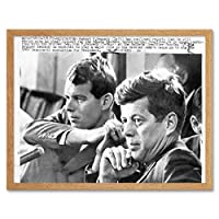 Robert Kennedy JFK Senator President Vintage Photo Art Print Framed Poster Wall Decor 12x16 inch 大統領ビンテージ写真ポスター壁デコ
