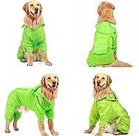 flower sea 犬のレインコート Dog 犬 ペット ドッグ服 アウトドアレインコート ドッグウェア ペットウェア (5XL, グリーン)