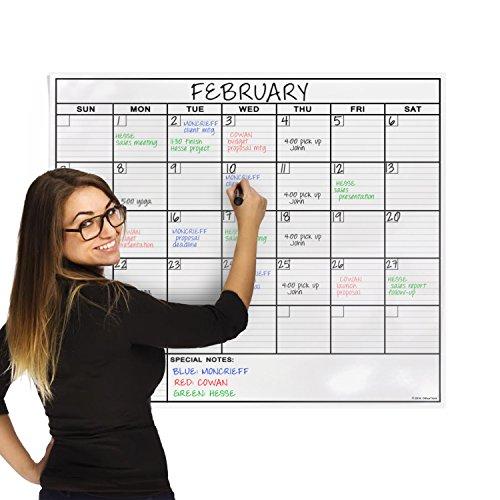 61cmx91cmラミネートホワイトボードシート月間スケジュール表 Laminated Calendar Whiteboard Sheet