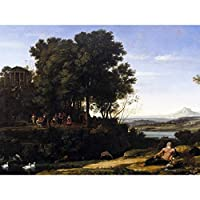 Lorrain Landscape Apollo Muses Mythology Painting Extra Large Art Print Wall Mural Poster Premium XL 景観ペインティング大アート壁ポスター