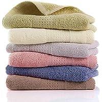 LEEPWEI ハンドタオル 6枚セット タオル 綿100% 業務用 おしぼり 人気 柔らか肌触り ふんわり 瞬間吸水 速乾 重さ約40g/枚 34cm×34cm