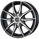HOT STUFF(ホットスタッフ)G speed (ジースピード)P-02 アルミホイール4本セット 15インチ5.5J INSET50 PCD100 HOLE4 カラー:メタリックブラックポリッシュ