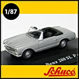 Schuco(シュコー)社ミニカー 452618100 メルセデスベンツ 280SL シルバー 1/87