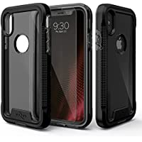 Zizo ジゾウ iPhone X用 イオンシリーズ ケース [ION Series] with FREE [iPhone X Screen Protector] Transparent Clear [Military Grade Drop Tested] Black/Smoke ブラックスモーク[並行輸入]