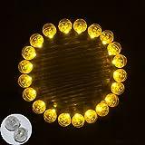 Neo LOONS 100個/ロット100 黄色 円形LEDフラッシュボールランプ バルーン用ライト 長い持続時間 ペーパーランタンに バルーンライトパーティ ウエディングのデコレーションに
