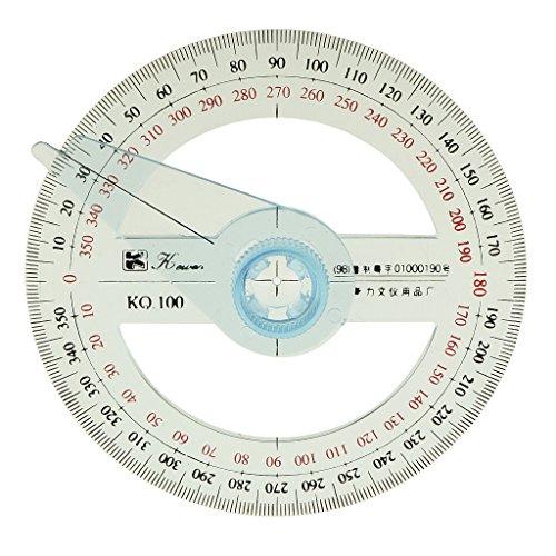 [해외]Lovoski 각도기 360도 각도 측정 반원 100mm 직경 스윙 암/Lovoski protractor 360 degrees angle measurement semicircle 100 mm diameter swing arm